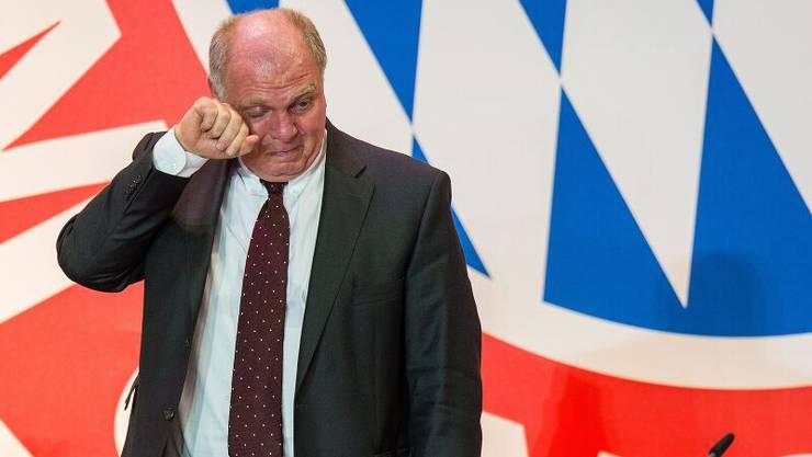 Tränen zum Abschied? Nächsten Freitag tritt Uli Hoeness als Präsident des FC Bayern München zurück.