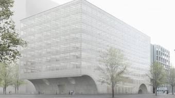Visualisierung des siegreichen Wettbewerbsprojekts für den Neubau des Zentrums für Biomedizin der Universität Basel.