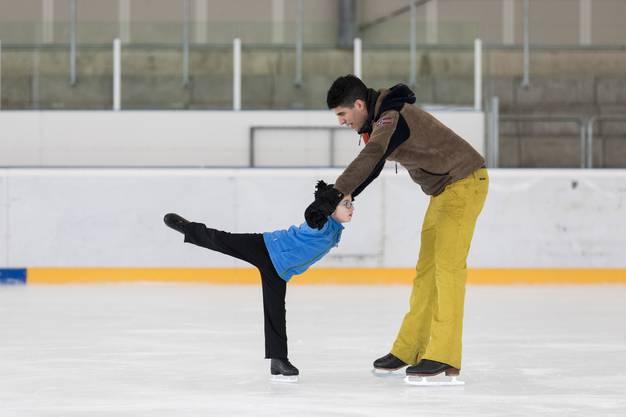 Der Fünfjährige trainiert mit Fabrizio Urso.
