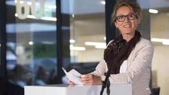 Der Aargau müsse sich überlegen, welches Spitalangebot es in den Regionen brauche, sagt Susanne Hochuli. Hier bei der Einweihung des Kopf- und Neurozentrums am Kantonsspital Aarau.