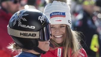 Lara Gut-Behrami und Corinne sorgen auch in der zweiten Weltcup-Abfahrt von Crans-Montana für einen doppelten Schweizer Erfolg