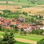 Die Gemeinde Mandach von oben.