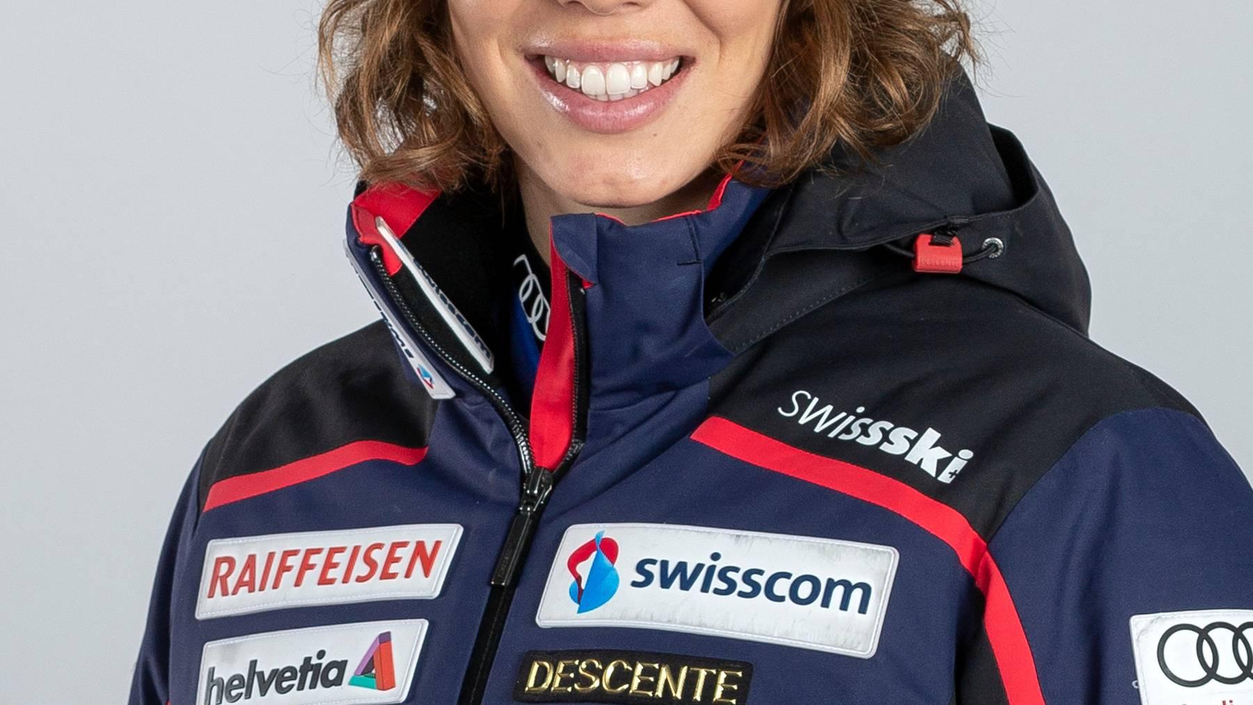 Michelle Gisin fährt erstmals aufs Slalom-Podest