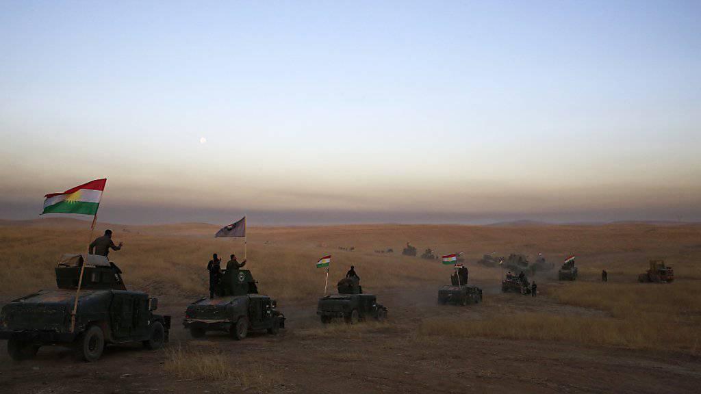 Peschmerga-Kämpfer in der Nähe von Mossul.