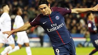 Edinson Cavani in gewohnter Pose - er traf schon 23 Mal für Paris Saint-Germain