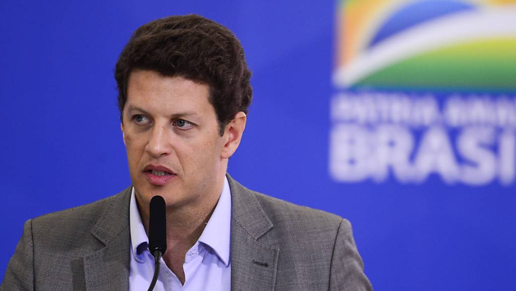 Ricardo Salles, Minister für Umwelt von Brasilien, spricht auf einer Veranstaltung im Regierungspalast.