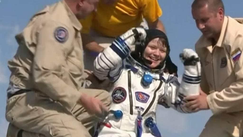 Drei Raumfahrer von der ISS auf die Erde zurückgekehrt