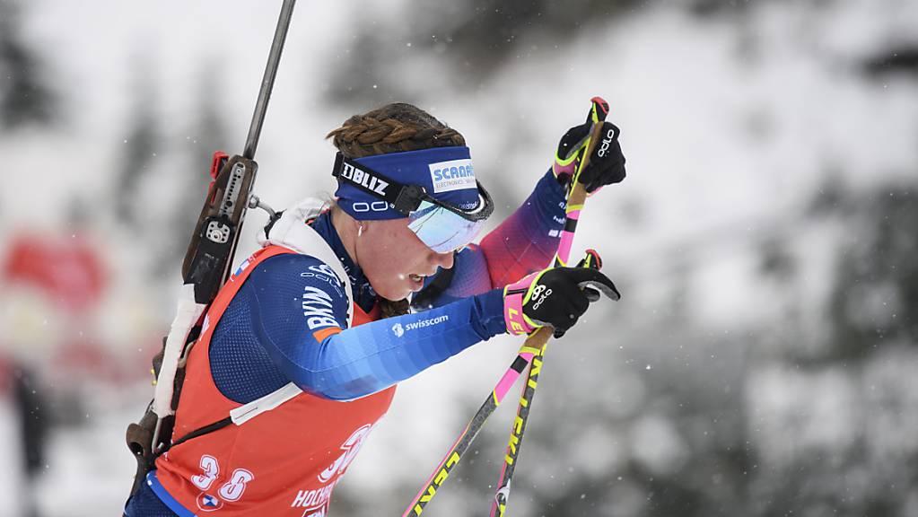 Lena Häcki kämpft sich nach vorne.