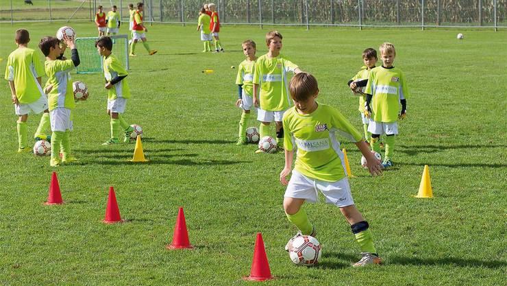 Im Fussballcamp des FC Menzo Reinach (Archivbild). zvg