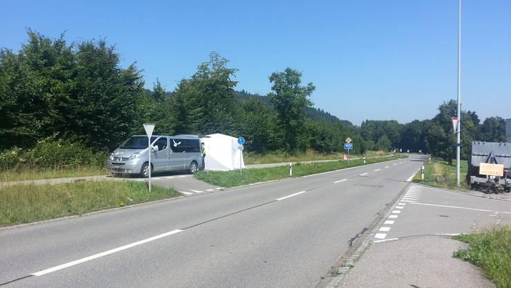 Der Radfahrer verstarb daraufhin noch vor Ort.