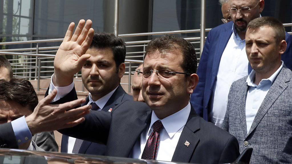 Der abgesetzte Bürgermeister von Istanbul, Ekrem Imamoglu, verspricht für die Wahlwiederholung am 23. Juni «null Fehler», sehr viel Vorsicht und eine «Revolution für Demokratie». (Archivbild)