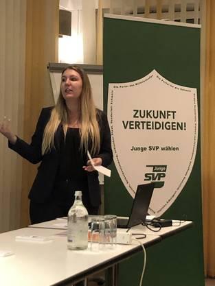 NR-Kandidatin Jennifer Fischer Junge SVP Liste 32