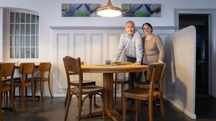 Sezivar Rahmani und seine Frau Florije empfangen ab heute die Gäste im Restaurant Krone in Stetten.