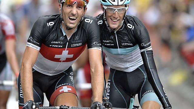 Von Radsport-Fusion betroffen: Cancellara und Andy Schleck