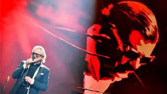Dieter Meier von Yello ist offenbar kein Entertainer. Auf der grossen Bühne des Hallenstadions wirkte er verloren.