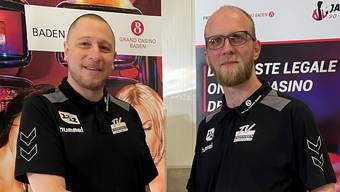 Der neue sportliche Leiter des TV Endingen, Alex Strittmatter (r.), und Trainer Zoltan Majeri.