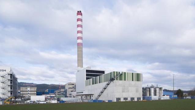 Das Holzheizkraftwerk in Sisseln.
