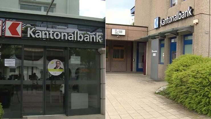 Wurden von der Bande heimgesucht: Die Filiale der Basellanschaftlichen Kantonalbank in Breitenbach und die Filiale der Aargauer Kantonalbank in Rothrist.