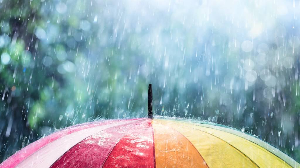 Ab Freitagabend braucht es wieder Regenschirme, am besten windsichere.