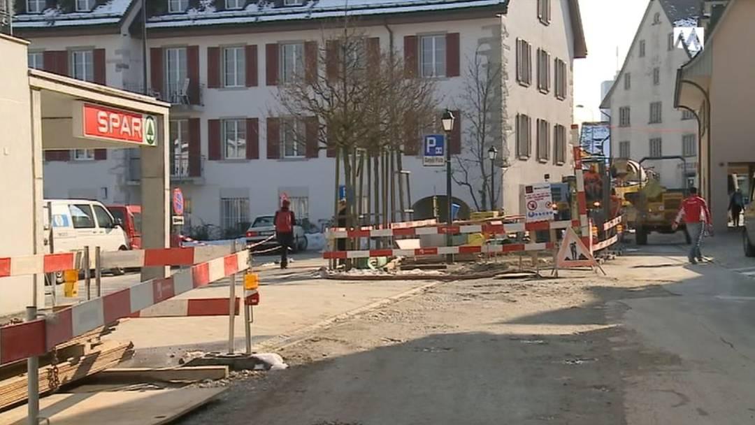 Baustelle ruiniert ein Geschäft in Niederlenz