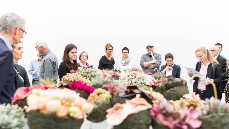 Weiteres Kapitel einer Erfolgsgeschichte – Vernissage zu «Blumen für die Kunst» Ausgabe 2018.