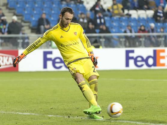 Mirko Salvi kam nach einer Verletzung von Germano Vailati zu seinem Debut beim FC Basel.