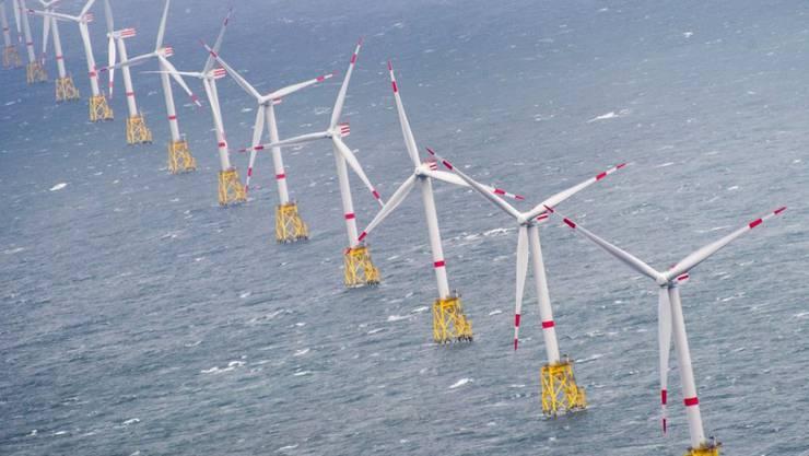 Sauberer Strom: ein Offshore-Windpark in der Nordsee. (Symbolbild)