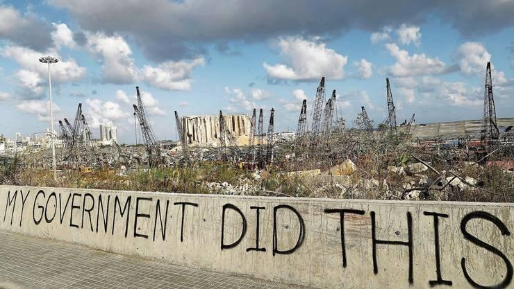 «Meine Regierung hat das getan»: Die Zerstörung am Beiruter Hafen erzürnt die Bevölkerung.