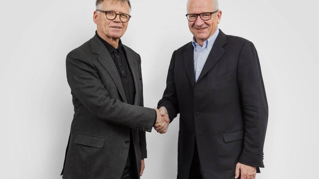 Peter Wanner, Verleger der AZ Medien, und Etienne Jornod, Verwaltungsratspräsident der NZZ-Mediengruppe
