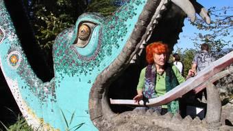 Die Witwe von Bruno Weber, Maria Anna Weber, schaut – trotz der Schliessung des Parks – zuversichtlich in die Zukunft.