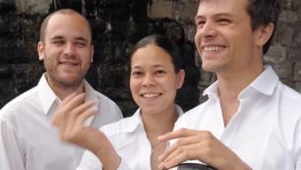 Daniel Meller, die Lommiswilerin Maki Wiederkehr und Flurin Cuonz bilden das «Trio Rafale». zvg