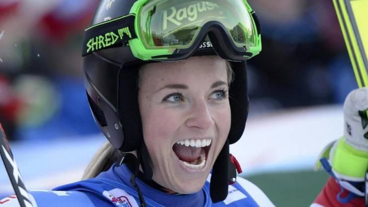 Lara Gut hat es geschafft: Die 24-jährige Tessinerin Gesamtweltcupsiegerin.
