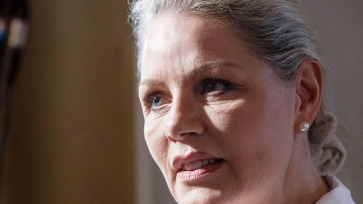 Doris von Sayn-Wittgenstein am Samstag an der Landes-Mitgliederversammlung der  AfD Schleswig-Holstein, an der sie erneut zur Landesvorsitzenden gewählt wurde.