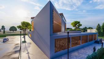 Dieses Gebäude entsteht im Reinacher «Moos».