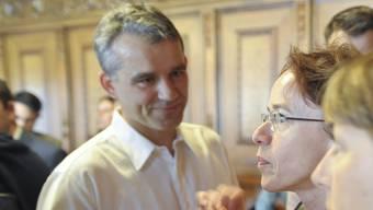 Beat Jans und Eva Herzog: Zwei SP-Politiker, ein Ständeratssitz.