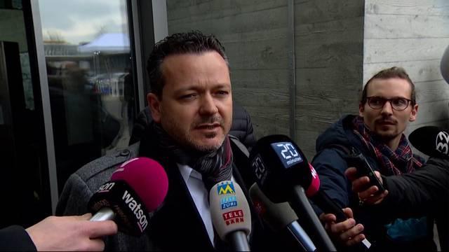 Georg Metger, Lebenspartner der ermorderten Carla Schauer, vor den Medien: «Es war für alle eine schwierige Zeit»