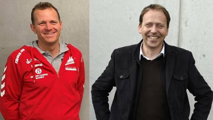 TV Endingen: Roger Küng (l.) steht als designierter Verwaltungsratspräsident der noch zu gründenden Aktiengesellschaft bereit, Geschäftsführer Christian Villiger gibt sein Amt im Zuge der Neuorganisation ab.