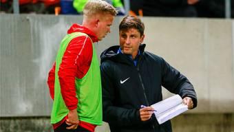 Im Moment hat Hammerich beim FC Aarau keinen Stammplatz – das will der junge Spieler aber wieder ändern.