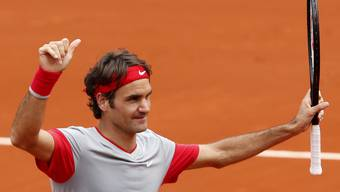 Roger Federer an den French Open locker in Runde zwei