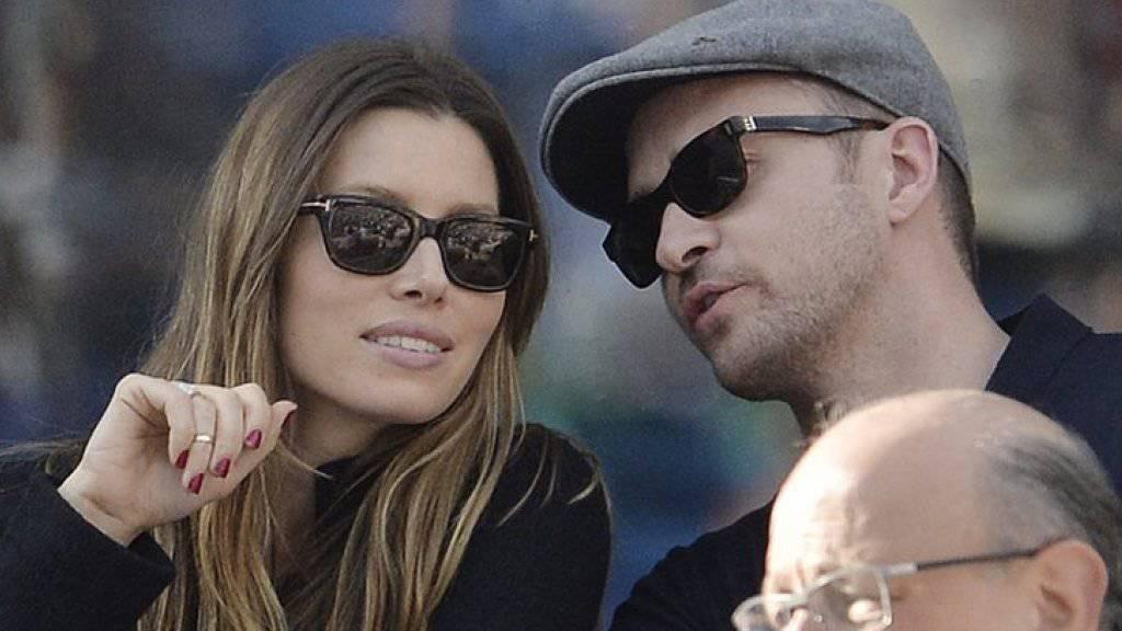 US-Schauspielerin Jessica Biel und ihr Ehemann, Popstar Justin Timberlake, beziehen Stellung: Auf Instagram postete das Paar Bilder von sich und der demokratischen Präsidentschaftskandidatin Hillary Clinton. (Archivbild)