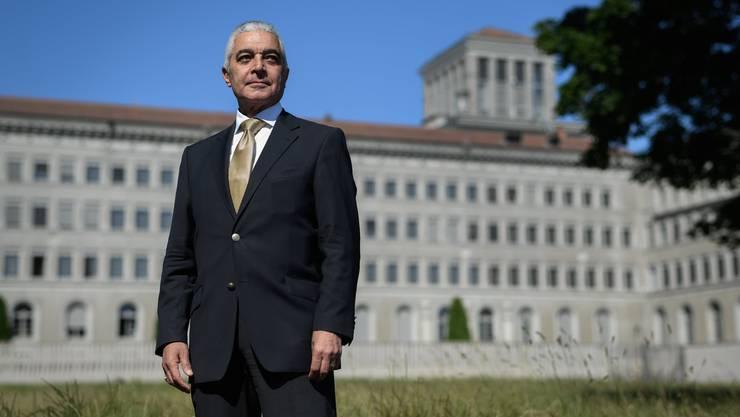 Hamid Mamdouh (67) kandidiert unter der Flagge Ägyptens und mit Unterstützung der Afrikanischen Union für das Spitzenamt bei der Welthandelsorganisation mit Hauptsitz am Genfersee.