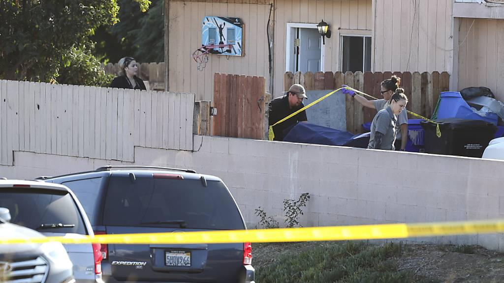 In diesem Haus in einem Quartier in der südkalifornischen Stadt San Diego kam es am Samstag zu einer Gewalttat. Fünf Mitglieder einer Familie starben.