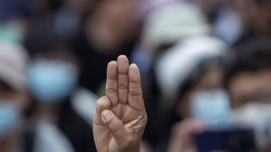 Drei Finger für die Demokratie: Grossdemo in Thailand fordert Reformen