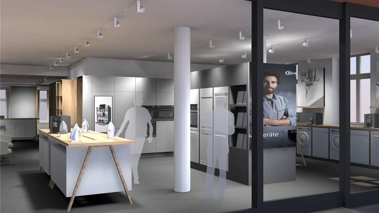Im neuen IBW-Shop werden Grossgeräte in einer Showküche präsentiert.zvg