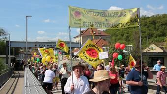 Beznau-Demo an Grenze (22.04.2018)