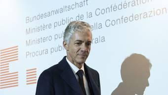 Bundesanwalt Michael Lauber hat am Montag in Brasilia mit der brasilianischen Generalstaatsanwältin Raquel Doge die Zusammenarbeit der beiden Behörden bei den Korruptionsverfahren um Petrobas und Odebrecht besprochen. (Archiv)