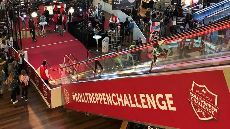 Hochrennen erlaubt - das ist die Rolltreppen Challenge