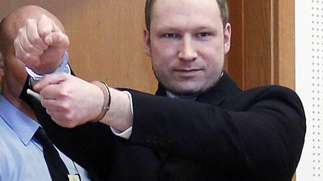 Laut Gutachten geistig gesund: Anders Behring Breivik (Archiv)