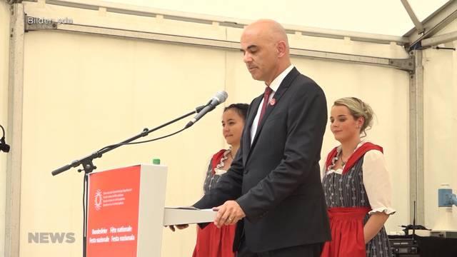 Bundesrat Alain Berset betont auf dem Rütli Wichtigkeit für Kompromisse
