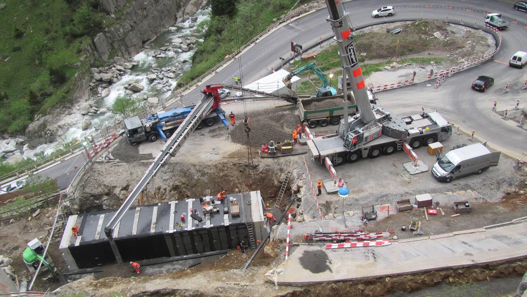 Schöllenen-Schlucht wird wieder zur Baustelle